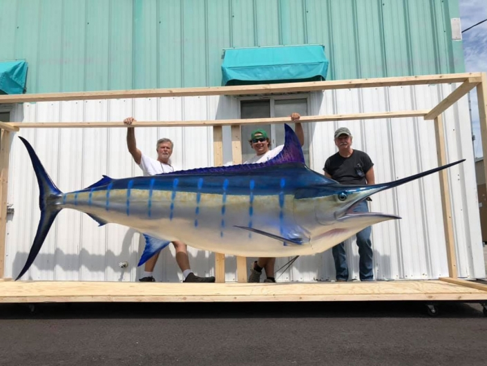 Blue Marlin Replica Mount