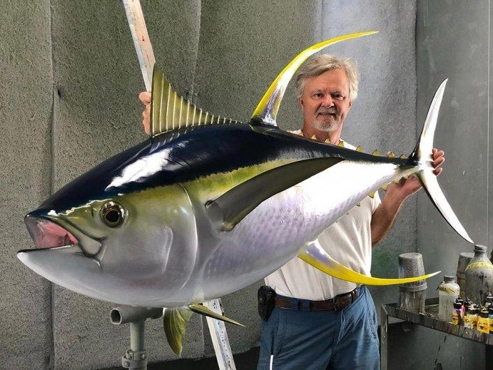 Yellowfin Tuna Replica Mount